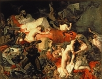 The Death of Sardanapalus by Ferdinand Victor Eugèn  Delacroix