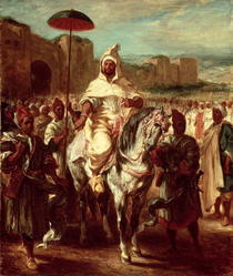 Abd Ar-Rahman, Sultan of Morocco by Ferdinand Victor Eugèn  Delacroix