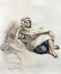 Seated Arab by Ferdinand Victor Eugèn  Delacroix