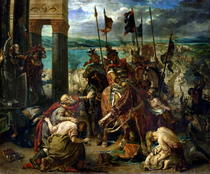 The Crusaders` entry into Constantinople by Ferdinand Victor Eugèn  Delacroix