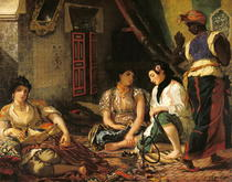 The Women of Algiers in their Apartment by Ferdinand Victor Eugèn  Delacroix