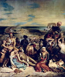 Scenes from the Massacre of Chios by Ferdinand Victor Eugèn  Delacroix