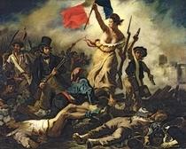 Die Freiheit führt das Volk von Ferdinand Victor Eugèn  Delacroix