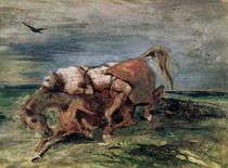 Mazeppa by Ferdinand Victor Eugèn  Delacroix