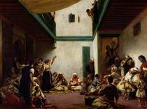 A Jewish wedding in Morocco by Ferdinand Victor Eugèn  Delacroix