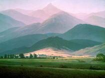 Morgen im Riesengebirge von Caspar David Friedrich