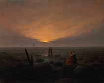 Moon Rising Over the Sea by Caspar David Friedrich