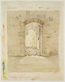 Eingangstor zur Königlichen Schule in Meissen von Caspar David Friedrich