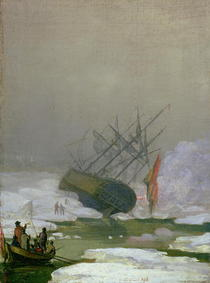 Ship in the Polar Sea by Caspar David Friedrich
