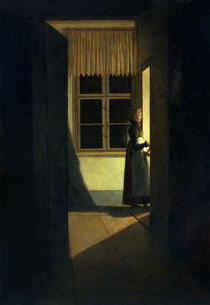 The Woman with the Candlestick von Caspar David Friedrich