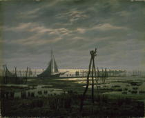 Marshy Beach by Caspar David Friedrich