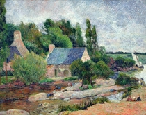 Washerwomen at Pont-Aven by Paul Gauguin