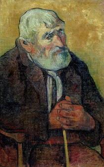 Alter Mann mit Stock von Paul Gauguin