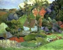 Landschaft bei Pont-Aven von Paul Gauguin