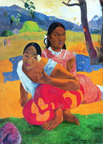 Nafea Faaipoipo (When are you Getting Married?) by Paul Gauguin