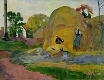 Yellow Haystacks, or Golden Harvest by Paul Gauguin