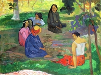 Les Parau Parau (The Gossipers), or Conversation by Paul Gauguin