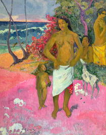 A Walk by the Sea by Paul Gauguin