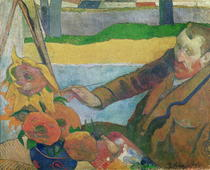 Van Gogh painting Sunflowers by Paul Gauguin