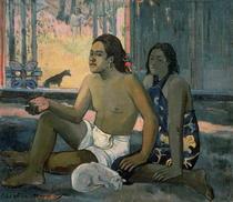 Tahitianer in einem Zimmer von Paul Gauguin