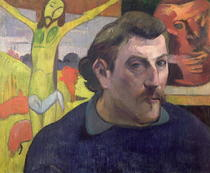 Self Portrait with the Yellow Christ by Paul Gauguin