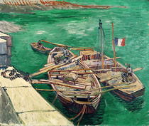 Landing Stage with Boats by Vincent Van Gogh