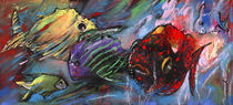 Rainbow Fishes von Miki de Goodaboom