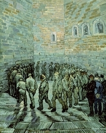 The Exercise Yard, or The Convict Prison von Vincent Van Gogh