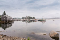 Bass Harbor In The Morning Fog by John Bailey