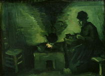 Peasant Woman by the Hearth by Vincent Van Gogh