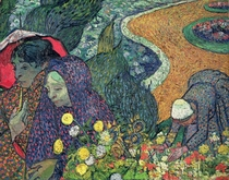 Ladies of Arles (Memories of the Garden at Etten) by Vincent Van Gogh