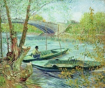 Fishing in the Spring. Pont de Clichy by Vincent Van Gogh