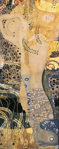 Water Serpents I by Gustav Klimt