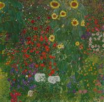 Bauerngarten mit Blumen von Gustav Klimt