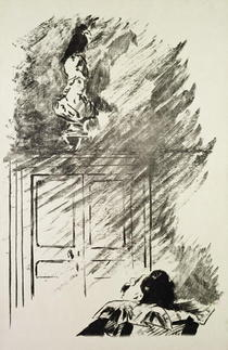 Illustration for `The Raven`, by Edgar Allen Poe von Edouard Manet
