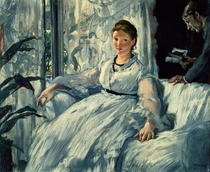 Reading by Edouard Manet