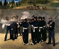 The Execution of the Emperor Maximilian by Edouard Manet
