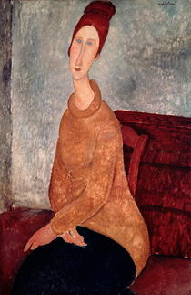 Jeanne Hebuterne in a Yellow Jumper by Amedeo Modigliani