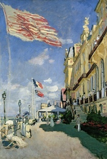 The Hotel des Roches Noires at Trouville von Claude Monet