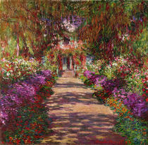 A Pathway in Monet`s Garden by Claude Monet