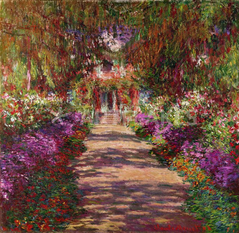 Ein Weg im Garten des Künstlers  Malerei als Poster und Kunstdruck ...