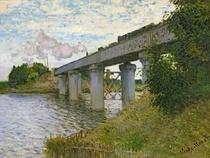 Eisenbahnbrücke bei Argenteuil von Claude Monet