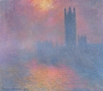 The Houses of Parliament, London, with the sun breaking through  by Claude Monet