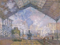 The Gare St. Lazare by Claude Monet
