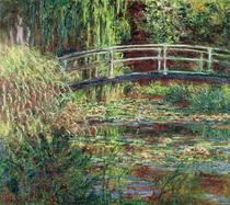 Waterlily Pond: Pink Harmony by Claude Monet