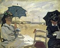 Der Strand von Trouville von Claude Monet