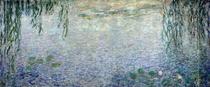 Seerosen mit Trauerweiden, Detail Zentrum von Claude Monet