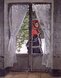 The Red Cape (Madame Monet) by Claude Monet