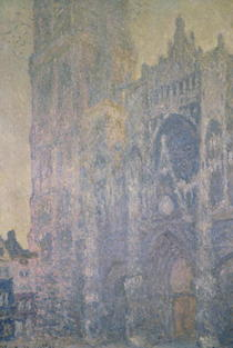 Rouen Cathedral, Harmony in White, Morning Light by Claude Monet