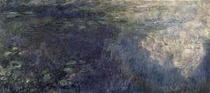 Seerosen, Detail links von Claude Monet